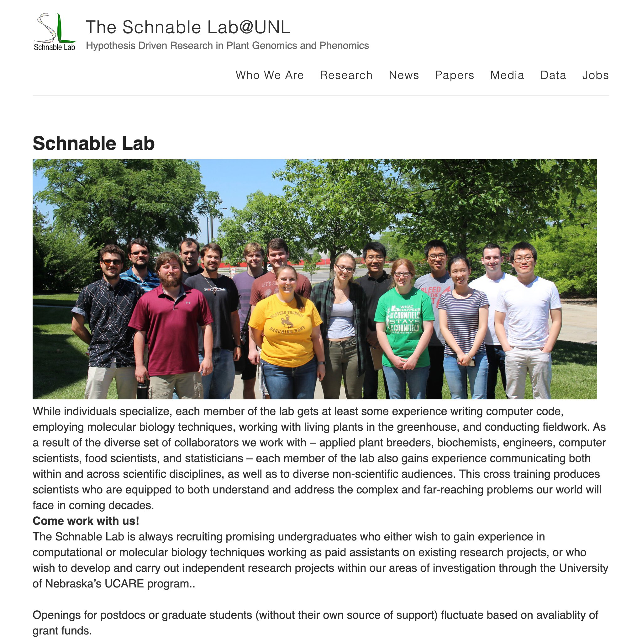 Schnable lab
