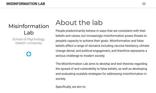 Misinformation lab