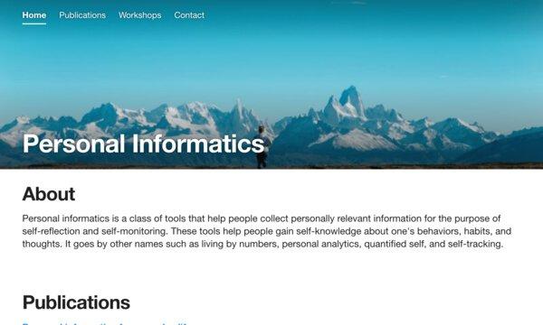 Personal informatics