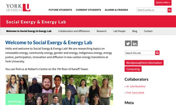 Social exergy energy lab